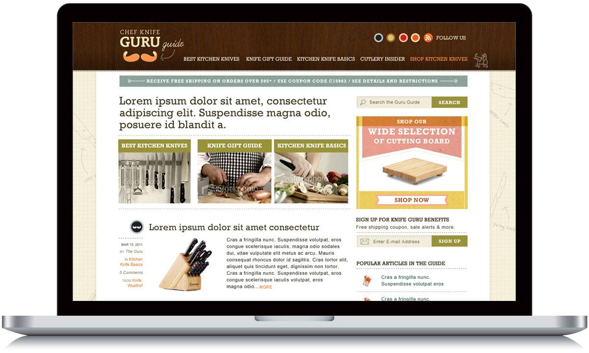 julie arnold design director cooking com los angeles web designer